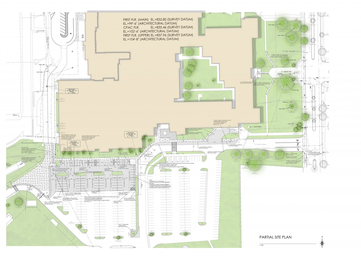 Colored Site Plan Example