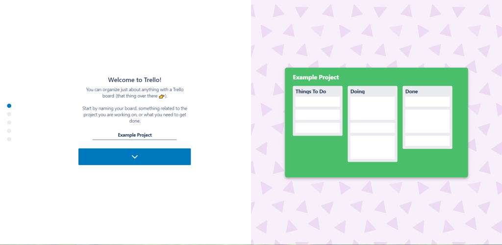Welcome - Trello - Project Name